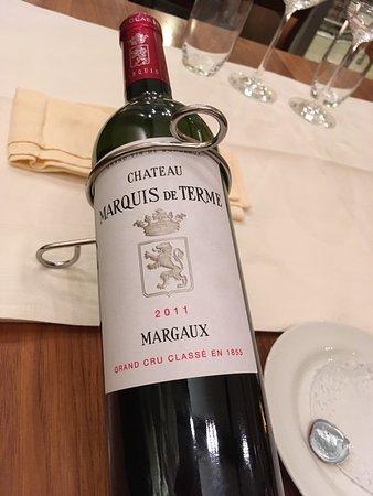 Buelach, Ελβετία: 2010er Château margaux, knoblauchcreme mit Ei, rehgulasch, Creme brûlée - nicht günstig aber seh