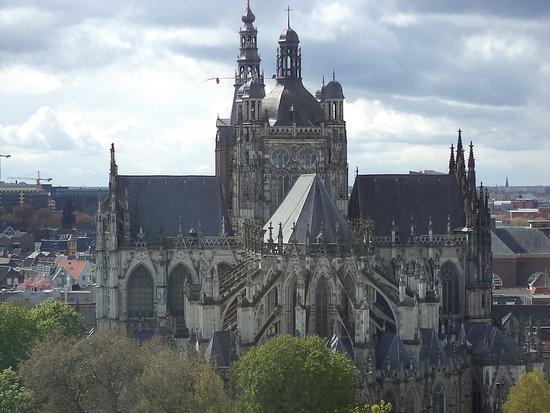 Den Bosch, Pays-Bas : uitzich vanuit de toren op de Sint Jans Kathedraal