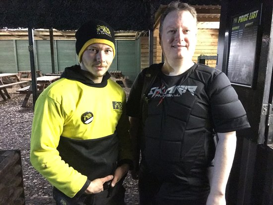 Cobham, UK : Aaron and myself at Effingham Delta Force