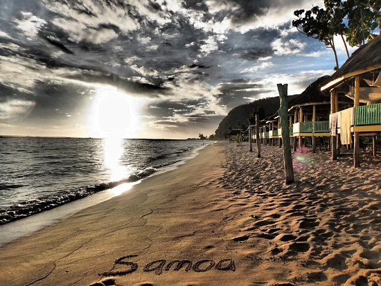 Lalomanu Beach: Accommodation is either right on the sand or up on higher ground boasts a breathtaking view