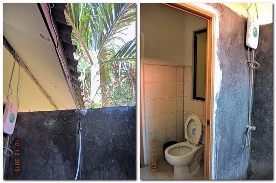 Lanta Nice Beach Resort: Номер А6.. Туалет в номере, а душ под открытым небом.