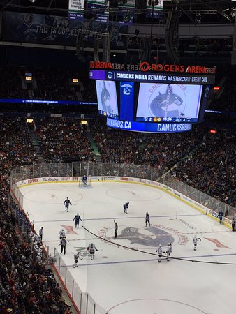 Chi vs van picture of rogers arena vancouver tripadvisor for Balcony 417 rogers arena