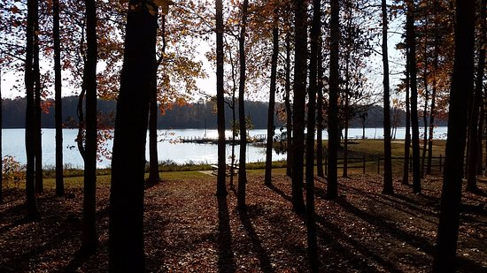 Reidsville, Carolina del Norte: View of lake from Site 32