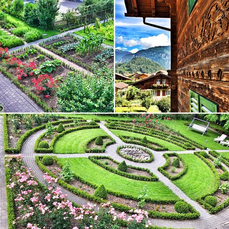 Alpenrose Hotel and Gardens: Our vegetable and herb garden and formal garden