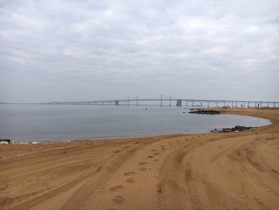 Annapolis, MD: The bay bridge from the beach