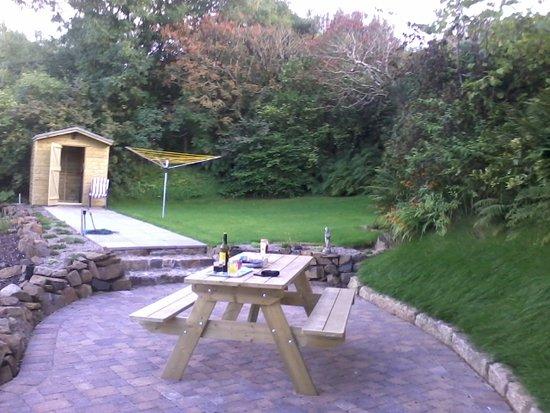 Ballycastle, UK: picnic table in back garden