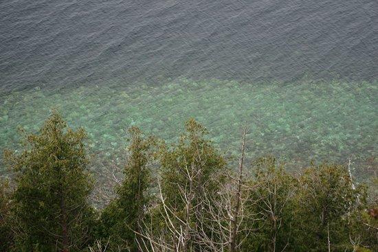 Ellison Bay, WI: Clear blue, serene waters.