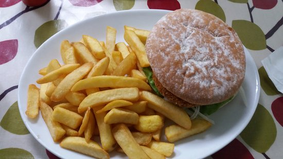 Scorrier, UK: Chicekn Burger & Chips