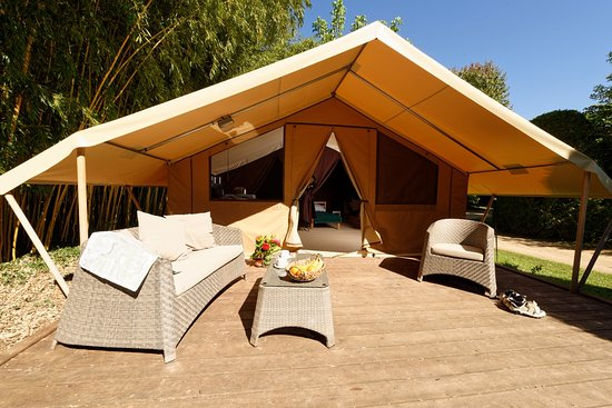 Camping le Paradis: Tente Canadienne