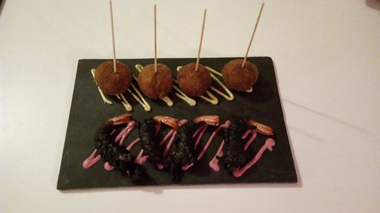 La Azohia, Espagne : Croquetas de Gambas y Caballitos Negros