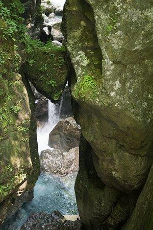 Tolmin, Eslovênia: La cabeza del Oso, el punto final del recorrido.