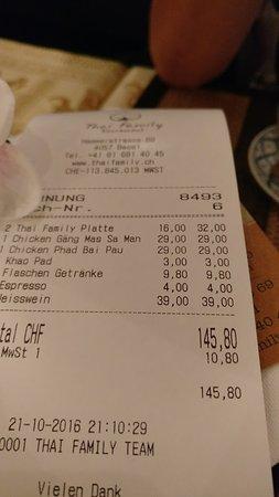 Thai-Family Restaurant Sudsaard: Schweiz eben ;)