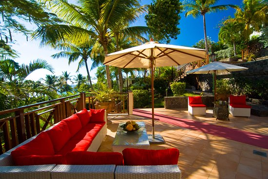 Friendship, Bequia: The beautiful terrace of our Italian Blue Tropic Restaurant