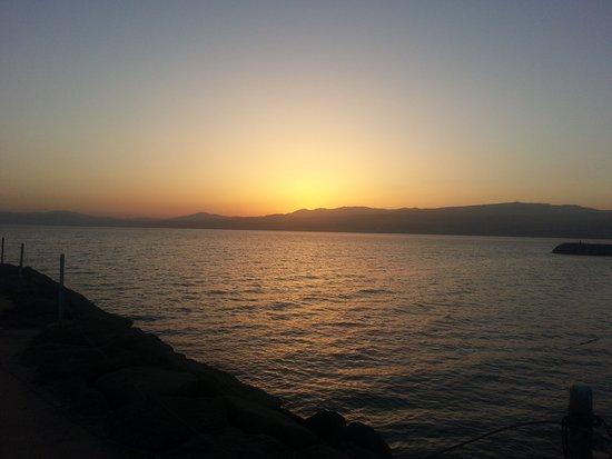 Kinar Holiday Village : Sonnenuntergang am Strandbereich
