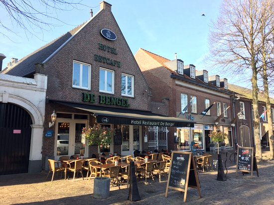 Eersel, The Netherlands: Cobbled street, outdoor seating area