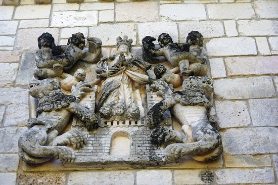 North Miami Beach, FL: Close up of the art above the entrance to the monastery