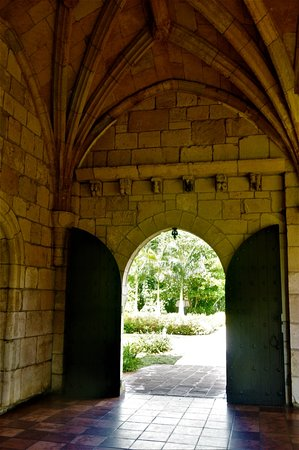 North Miami Beach, FL: Looking back at the entrance doors to the monastery