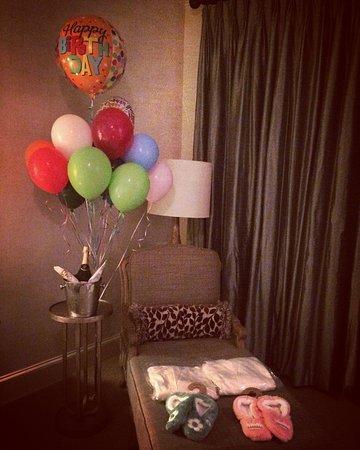 Braselton, GA: Birthday accommodations!