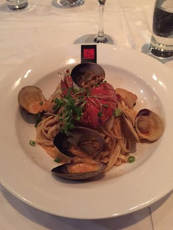 Pointe Claire, Canada: Seafood pasta - average and not satisfying considering the price tag