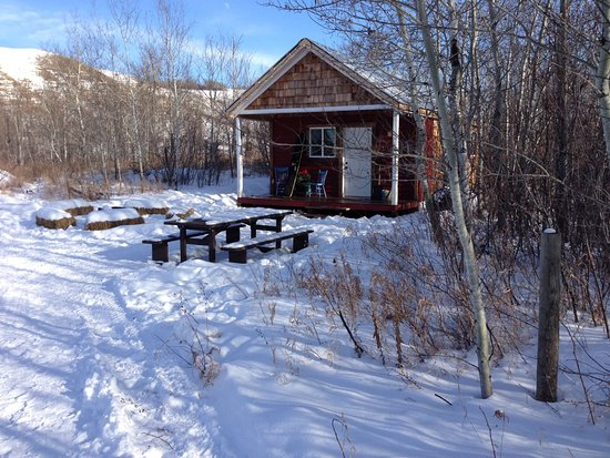 North Battleford, Kanada: Toasty warm cabin to retreat to after exploring