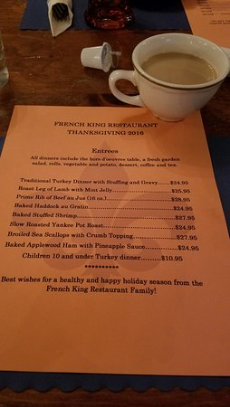 Erving, MA: Reasonable prices for double-portion size Thanksgiving dinners--including hors d'oeurves!