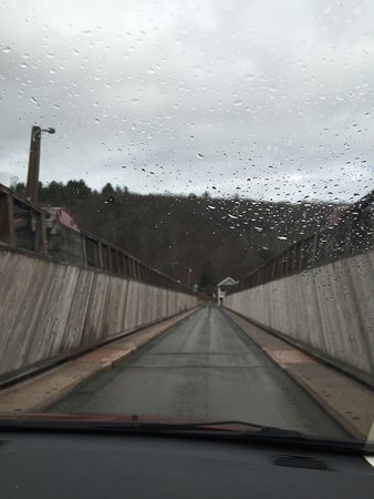 Lackawaxen, PA: Roebling Aqueduct Suspension Bridge