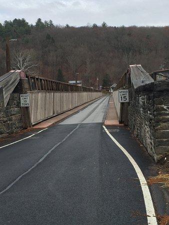 Lackawaxen, Pensylwania: Roebling Aqueduct Suspension Bridge