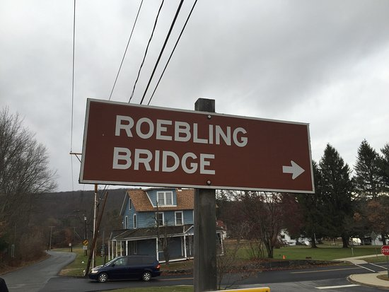 Lackawaxen, Pensylwania: Roebling Aqueduct Suspension Bridge