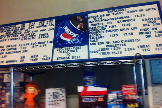 Staggs Grocery: check the prices
