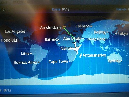 Mt Kilimanjaro mid flight to Nairobi Kenya Picture of Kenya