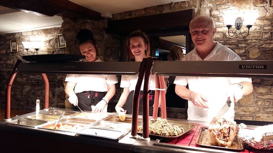 The Seven Stars: Sunday Carvery Crew, ready to serve.