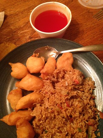 Hamburg, NY: Sweet and Sour chicken with pork fried rice