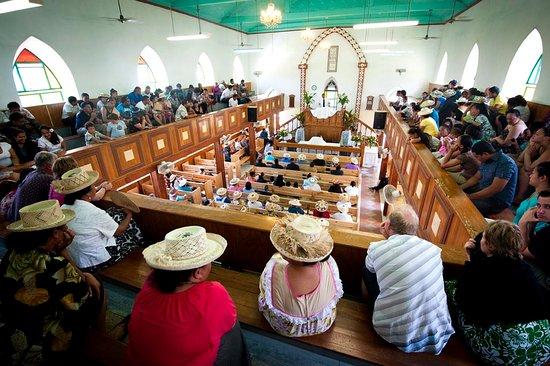 Cook Islands Christian Church service