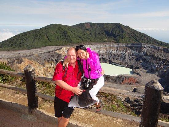 Poas Volcano National Park, Kosta Rika: мы на смотровой площадке