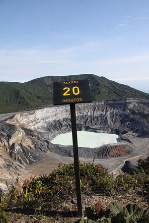 Poas Volcano National Park, Kosta Rika: максимум 20 минут