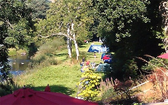 Corwen, UK: Campsite from beer terrace