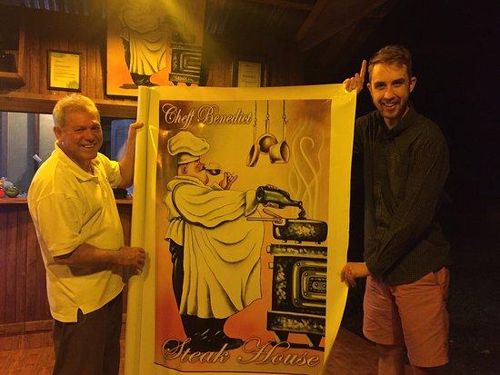 El Castillo, Costa Rica: Me and Chef Benedict himself!