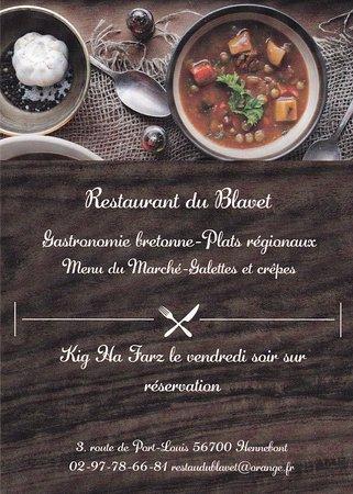 restaurant restaurant du blavet dans hennebont avec cuisine fran aise. Black Bedroom Furniture Sets. Home Design Ideas