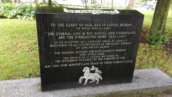 St. George's Anglican Church & Graveyard : Memorial Stone Outside St. Georges's Church
