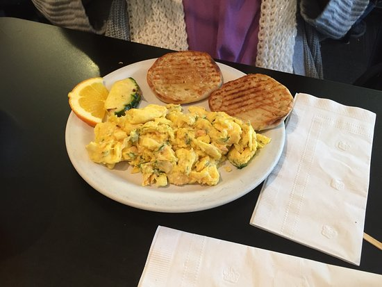 Cafe Stephanie: Cobb sandwich, the oinker sandwich and salmon scramble