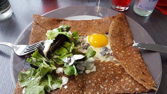 glacier du vieux pecheur : A pancake with mushrooms