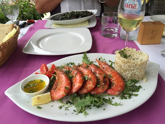 Zaton, Croatia: Garlic Prawns - delicious :-)