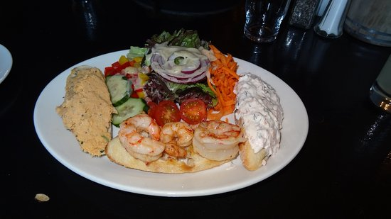 Seafood open sandwiches with fresh salad, Rest. Monks at the Pier, Ballyvaughan