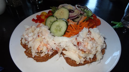 Krabben-Brot, Crab meat on soda bread, Rest. Monks at the Pier, Ballyvaughan