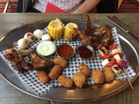 Royston, UK: Mixed platter - not so good