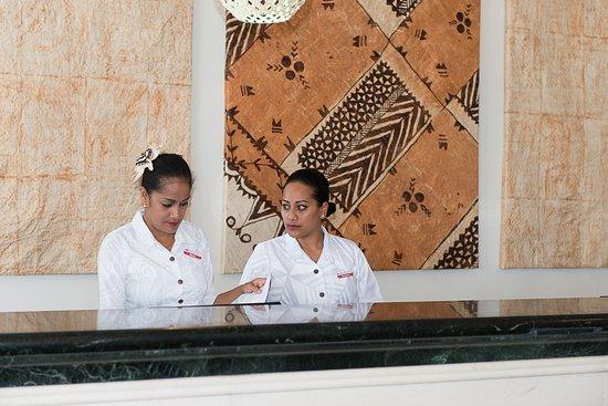 Tanoa International Dateline Hotel Front Desk Staff