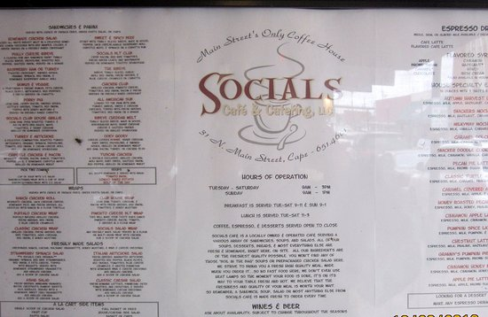 Cape Girardeau, MO: Menu