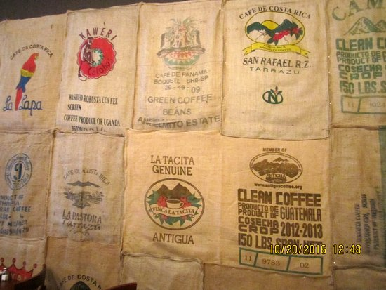 Cape Girardeau, MO: Coffee sacks for wall decor