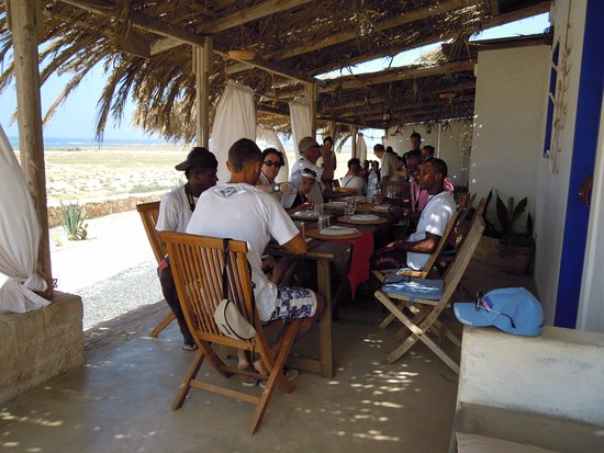 Sal Rei, Cabo Verde: great lunch with our client!!!!