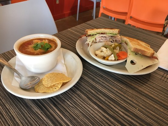 Comfort, TX: Soup of the day: chicken tortilla and the Bubba Club sandwich